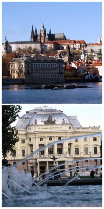 imperial cities rail circle tour, Prague Castle Czech Republic Bratislava National Theatre Opera House Slowakia