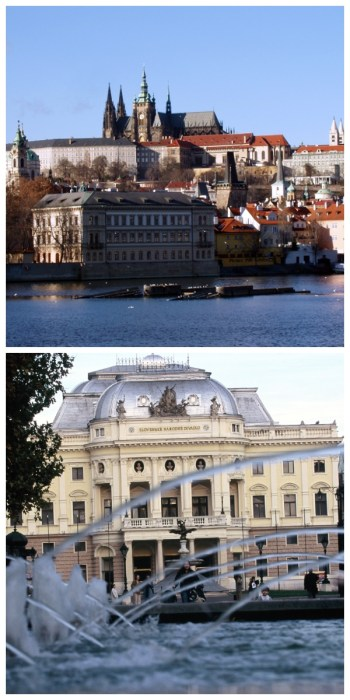imperial cities rail circle tour, Prague Castle Czech Republic Bratislava National Theatre Opera House Slowakia