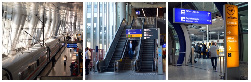 German Holiday Tours by Rail, Frankfurt Airport Long Distance Rail Station - AiRail