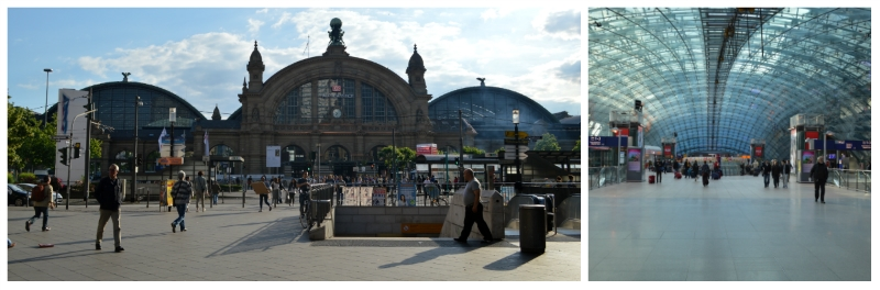 German Holiday Tours by Rail, Frankfurt Central Station and Frankfurt Airport Rail Station