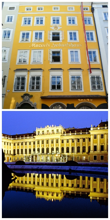 Mozart Birth Place Salzburg ©Thomas H. Giesick and Schoenbrunn Palace Vienna ©Oesterreich Werbung Austria to-europe.com