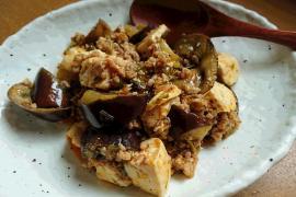 アカモク麻婆豆腐茄子