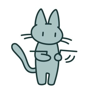 ダウジング猫
