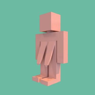 富永一朗さんが描く胸の垂れたご婦人をスクエア表現でCGにしてみました