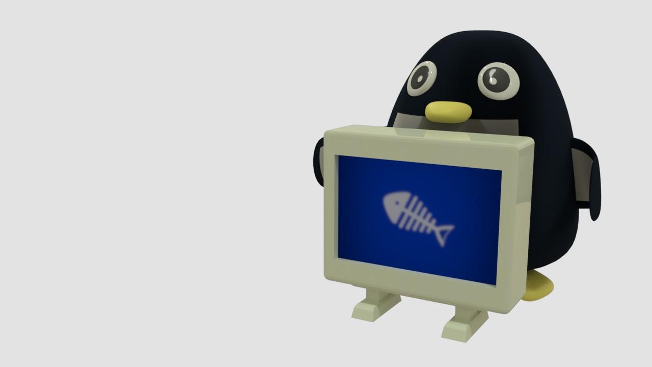 レントゲンを撮るペンギン