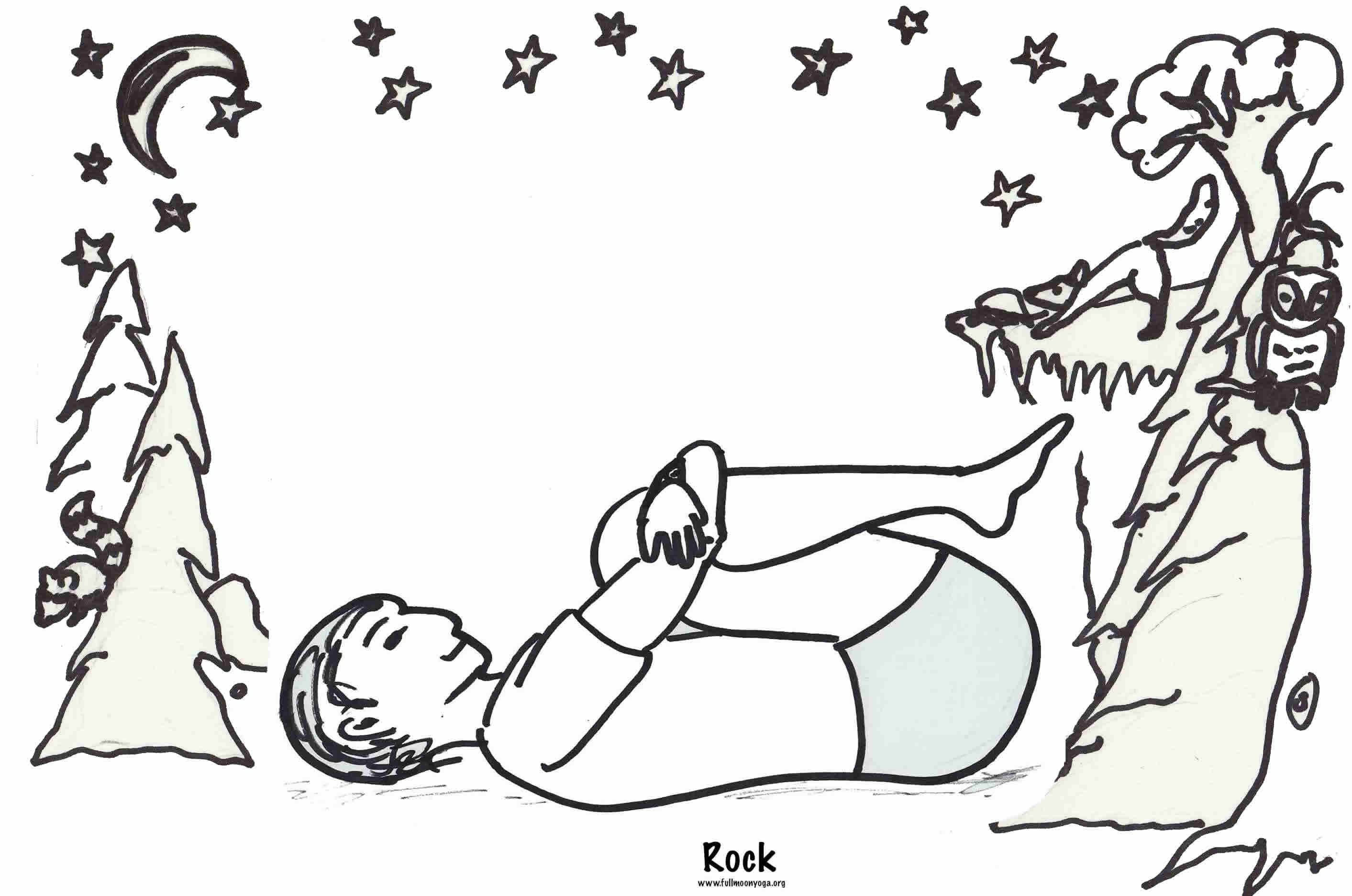 Yoga Pose Coloring Book Coloring Pages