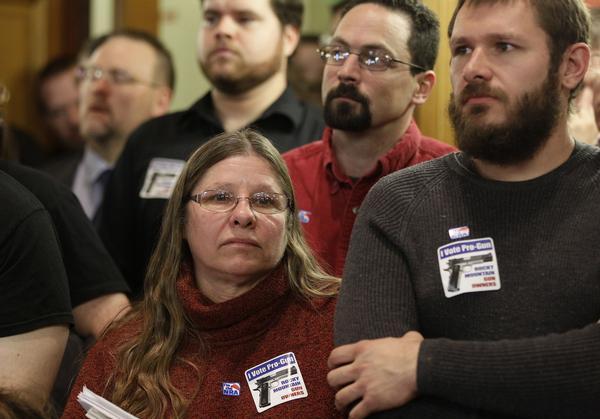 Colorado Gun Control Opponents at Hearing