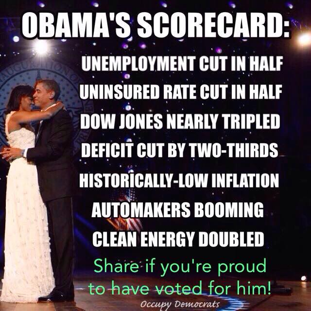 Obama Scorecard from Occupy Democrats
