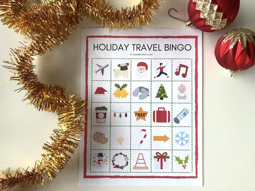 Holiday Travel Bingo Free Kids Travel Activities For The
