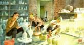 Phụ nữ làm gốm