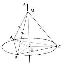 mặt cầu ngoại tiếp - đường tròn ngoại tiếp đa giác đáy