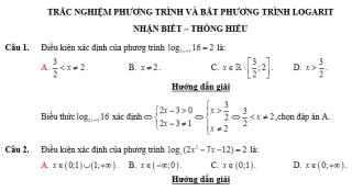 phương trình và bất phương trình logarit