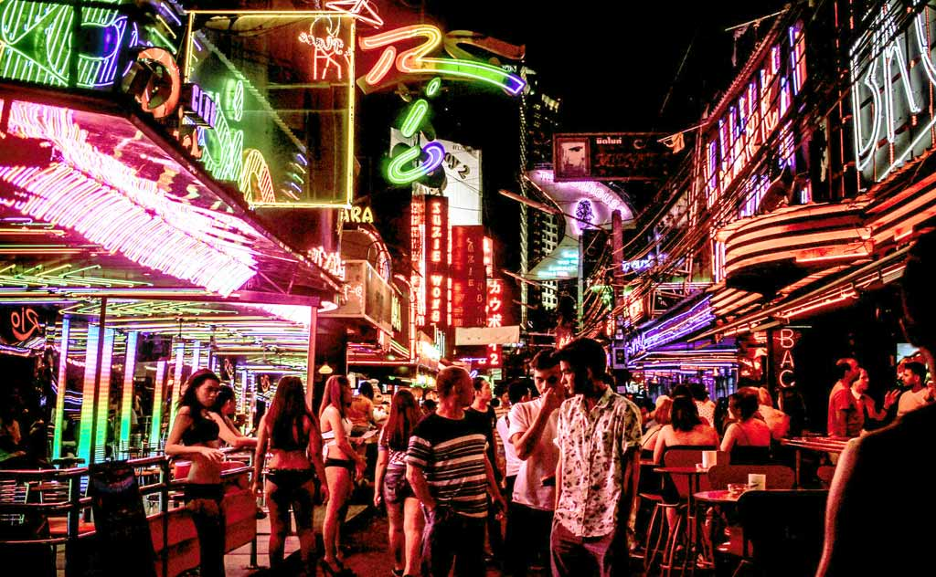 Thailand is a party destination. Image of Soi Cowboy