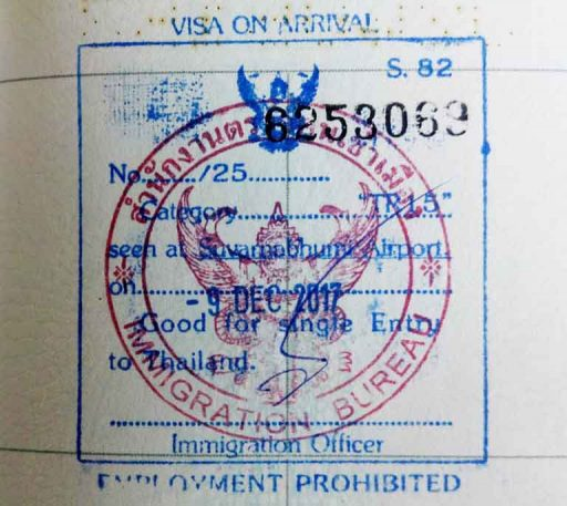 Visa on Arrival for Thailand