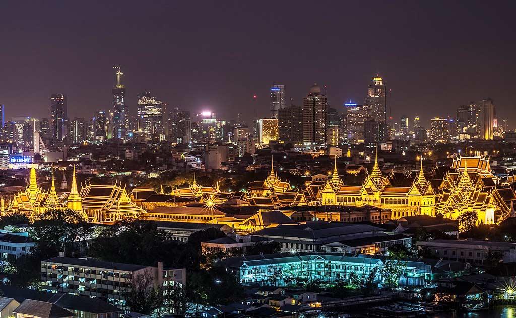 Grand Palace, Bangkok, night view