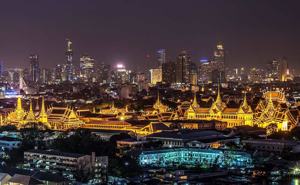 Grand Palace, Bangkok, night view