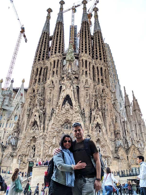 Outside Sagrada Família, Barcelona