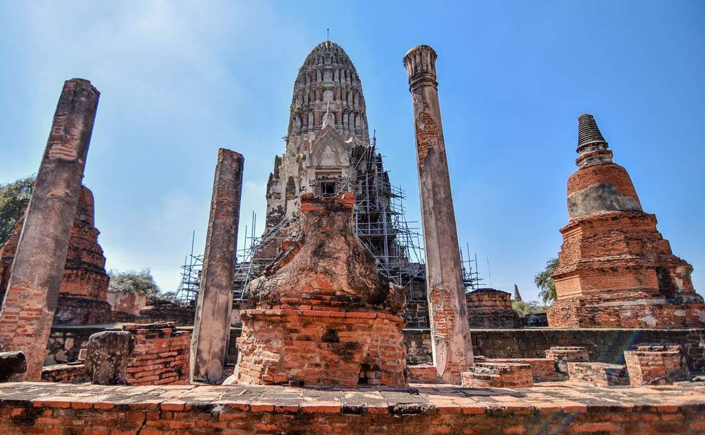 Restoration Work at Ayutthaya