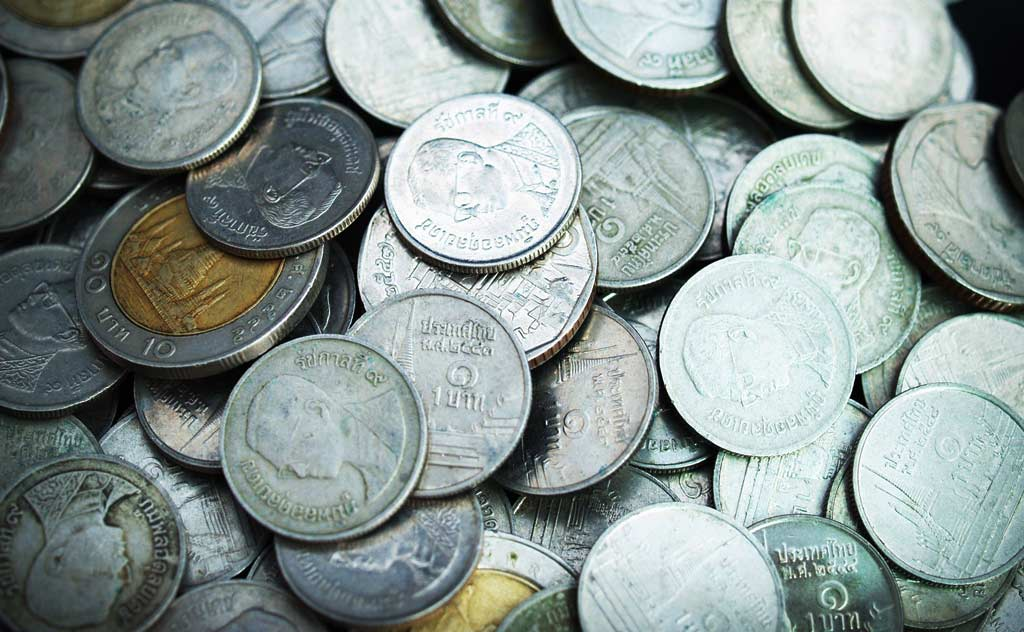 Tipping in Thailand - Thai Baht coins