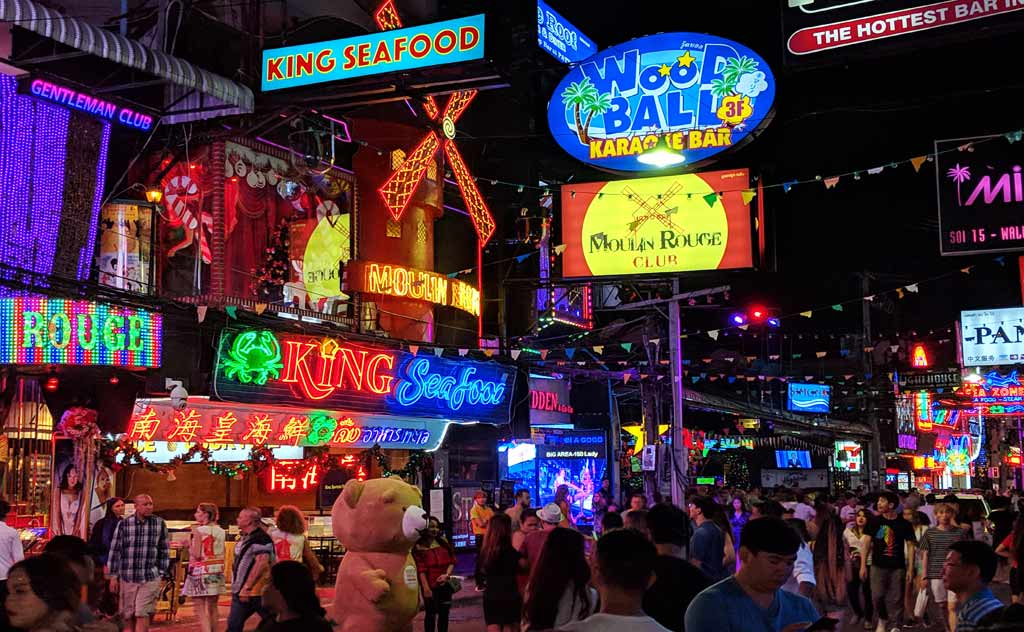 A visit to Pattaya Walking Street is the most popular thing to do in Pattaya