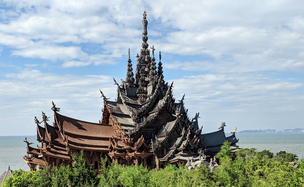 Sanctuary of Truth: View from hill before entrance