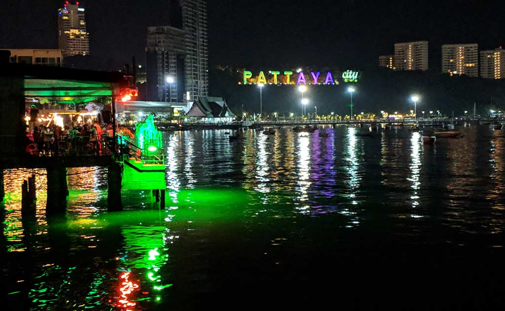 View of Pattaya Pier from Sea Zone Restaurant