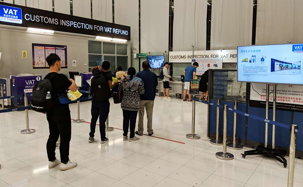 VAT Refund Counter at Bangkok's Suvarnabhumi International Airport (BKK)