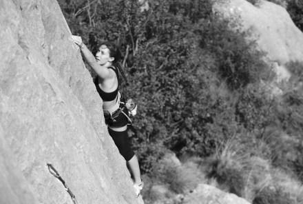 Climbing in Céüse, France