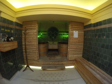 View of the Beer Spa tubs.