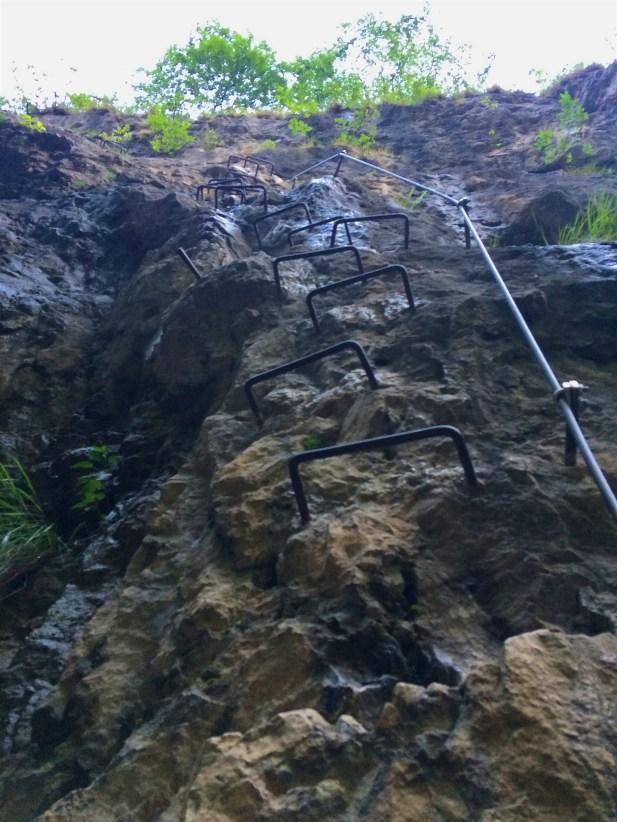 Iron steps of Via Ferrata.