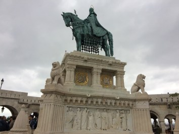 Buda Castle Hill and Statue of St Stephen