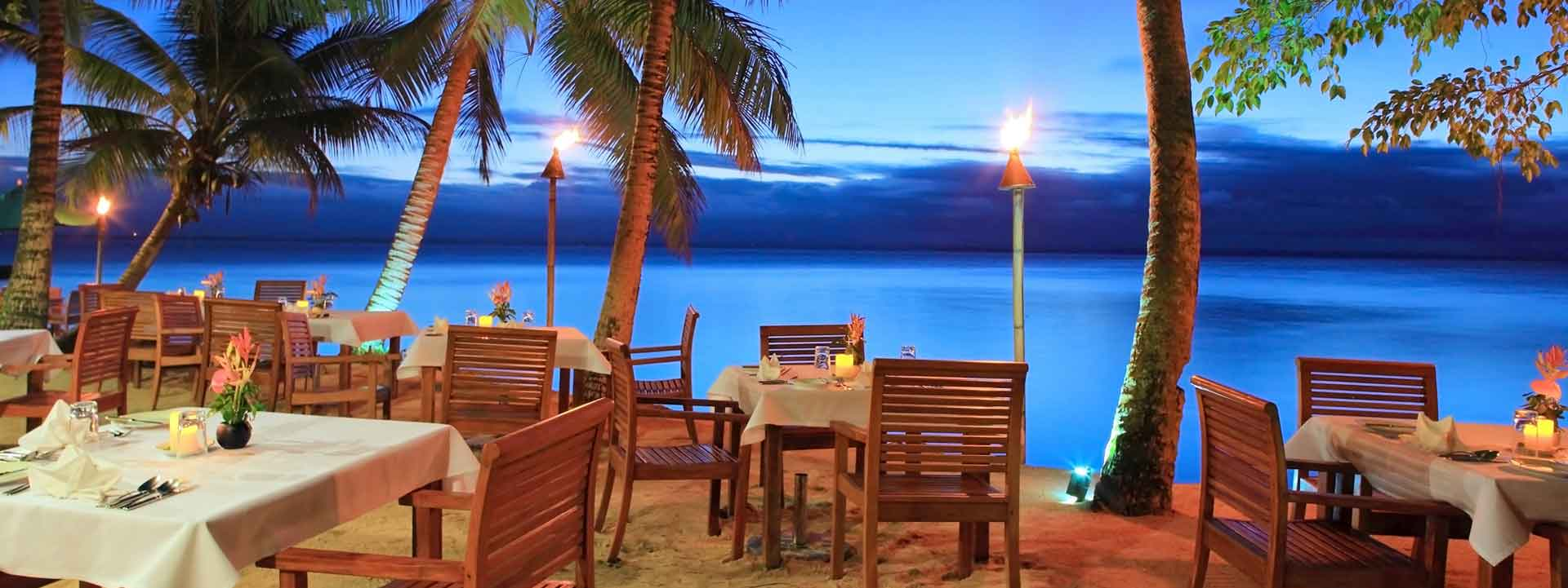 Daily Gourmet Dining Overlooking The Beach Toberua