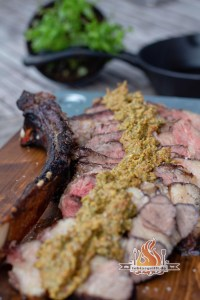Tomahawk Steak mit Basilikum Pesto vom Gasgrill