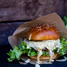 Dattel Mayo Burger vom Grill 02