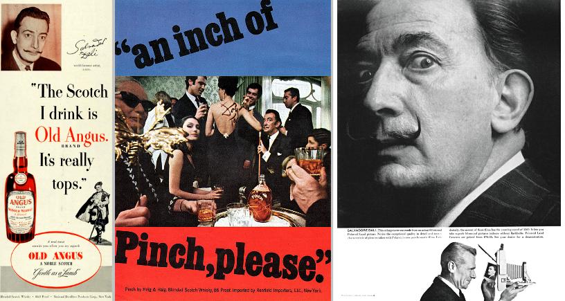 Salvador-Dali-Pinch-by-Haig-Haig-1967-Polaroid-1960