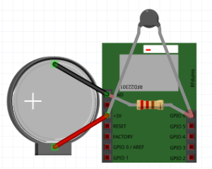 The RFDuino placed inside the ChillFish LEGO controller uses a thermistor to gather breath data, which is then transmitted via a wireless Bluetooth 4.0 connection to the ChillFish game.