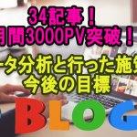 ブログの月間PV数が3000を超えたので詳細公開と分析【2017年8月】