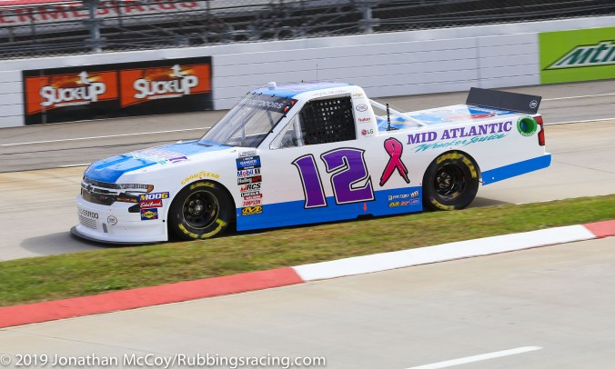Gus Dean's No. 12 Mid-Atlantic Wrecker Service Chevrolet Silverado (Photo Credit: Jonathan McCoy / RubbingsRacing.com)