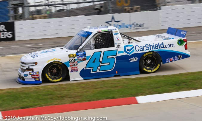 Ross Chastain's No. 45 Carshield Chevrolet Silverado (Photo Credit: Jonathan McCoy / RubbingsRacing.com)