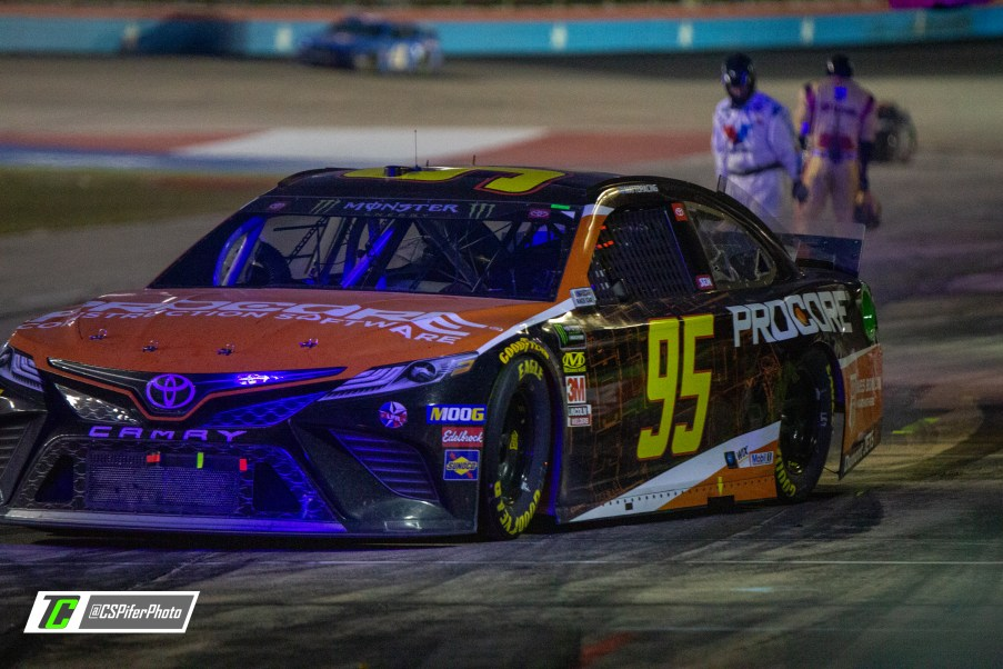 Matt DiBenedetto leaves pit road after getting service in the AAA Texas 500. Photo Credit: Caleb Pifer / TobyChristie.com