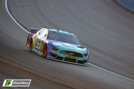 JJ Yeley has one of the more interesting paint schemes in the Cup Series this weekend, it is a tie-dye sceme. Photo Credit: Daniel Nelson/TobyChristie.com