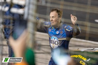 Kevin Harvick celebrates with the crowd after winning the AAA Texas 500. Photo Credit: Daniel Nelson / TobyChristie.com