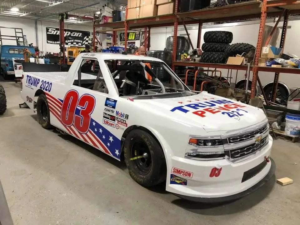 Affarano Motorsports Trailer, Carrying No. 03 Trump Truck Lands in Ditch on Way to Daytona - TobyChristie.com