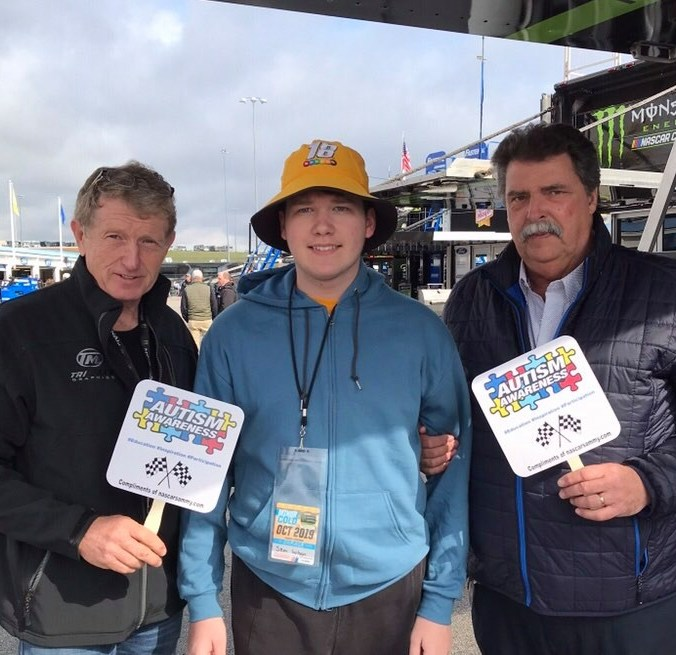 Bill Elliott, Mike Helton, and Sammy (PC: Jennifer Wilson)