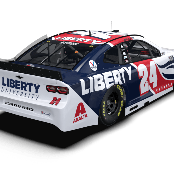 The 2021 Liberty University Camaro for William Byron (PC : Hendrick Motorsports)
