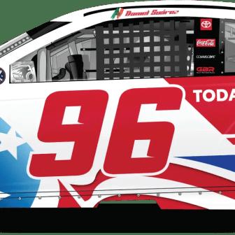 Daniel Suarez's Toyota USA Coca Cola 600 Toyota for Gaunt Brothers Racing (Design Credit : Kyle Williams)