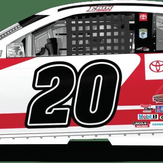 Erik Jones' Toyota Parts and Services Camry for Joe Gibbs Racing (Design Credit : Kyle Williams)
