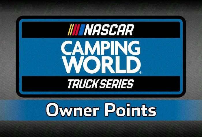 NASCAR Truck Owner Points