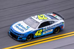 DAYTONA BEACH, FLORIDA - SEPTEMBER 07: Ross Chastain, driver of the #42 AdventHealth Chevrolet, drives the NASCAR Next Gen car during the NASCAR Cup Series test at Daytona International Speedway on September 07, 2021 in Daytona Beach, Florida. (Photo by James Gilbert/Getty Images)