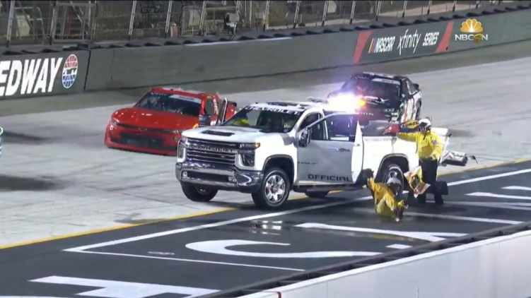 NASCAR Safety Worker Fall